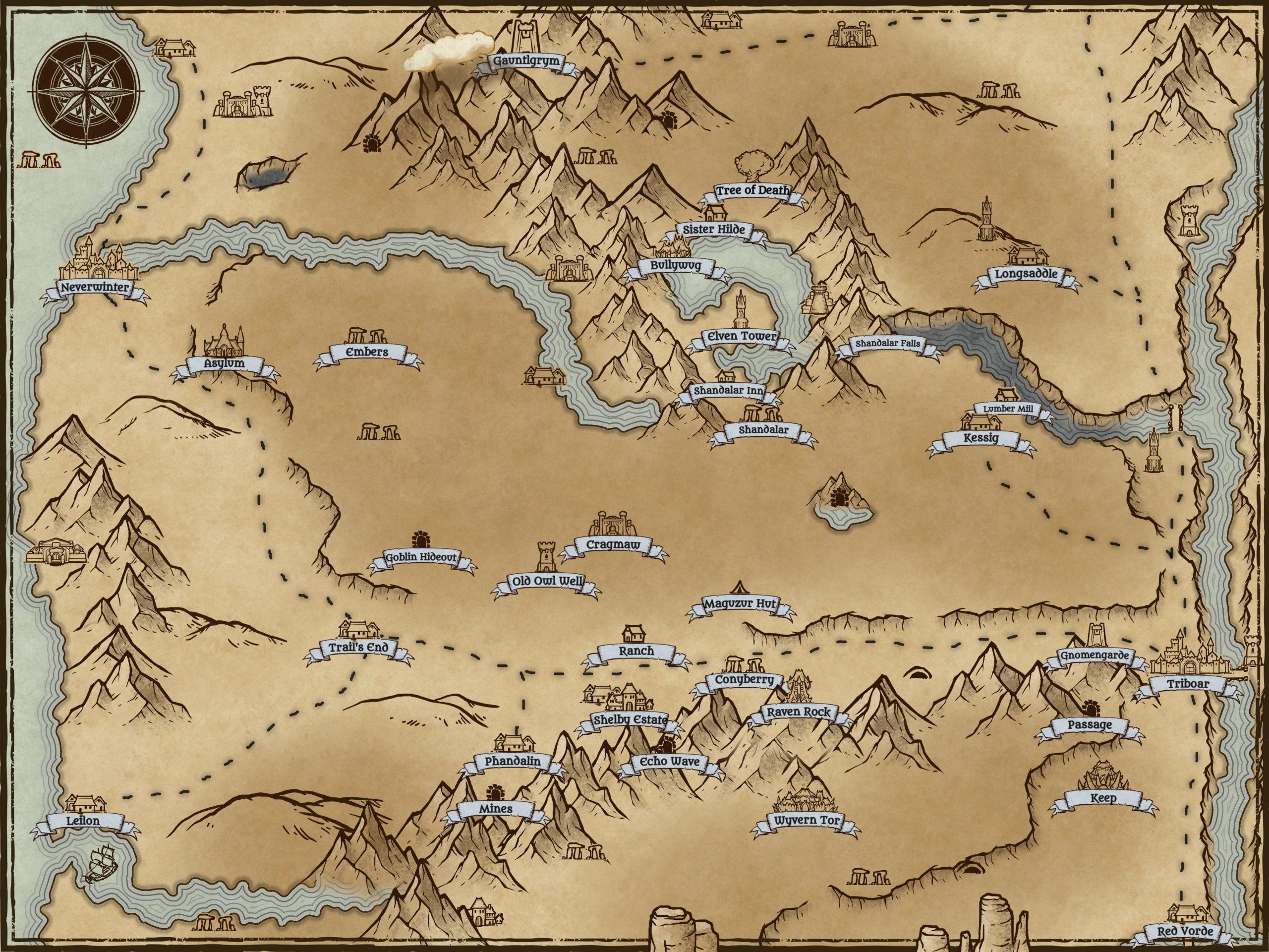 swordcoast campaign map